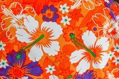 Modèles détaillés de tissu de batik la manière naturelle Image stock
