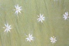 Modèles détaillés de tissu de batik la manière naturelle Photos stock