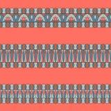 Modèles d'éléments de décoration de frontière Placez des ornements horizontaux faits dans des couleurs à la mode de 2019 illustration libre de droits
