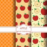 Modèles d'Apple réglés images stock