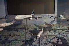 Modèles d'avions dans l'étalage image libre de droits