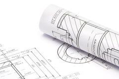 Modèles d'ingénierie Photos stock