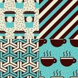 Modèles de café Image libre de droits