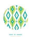 Modèles de décor de cercle de diamants d'ikat de vert vert Photos libres de droits