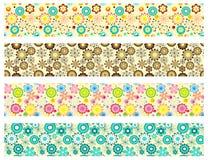Modèles de fleur sans couture sur le blanc Illustration de Vecteur