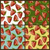 Modèles de fraise réglés Photos stock