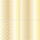 Modèles de Fretwork d'or Images stock