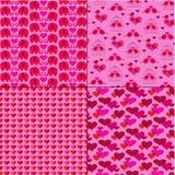 Modèles de jour de valentines de mod sur le rose avec des oiseaux et des éléphants Images libres de droits