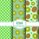 Modèles de kiwi réglés Photo libre de droits