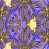 Modèles de l'espace de kaléidoscope de batik Photographie stock libre de droits