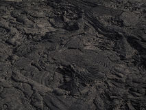 Modèles de lave près de volcan de bière anglaise d'Erta, Ethiopie Photographie stock