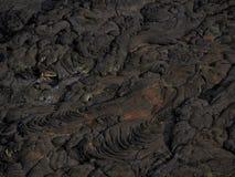 Modèles de lave près de volcan de bière anglaise d'Erta, Ethiopie Images libres de droits
