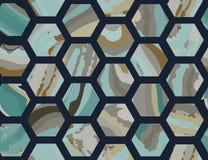 Modèles de marbre géométriques illustration de vecteur