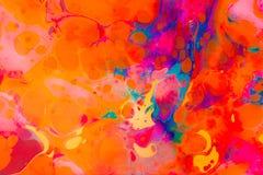Modèles de marbrure abstraits d'art en tant que fond coloré images stock