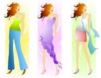 Modèles de mode de source Image stock