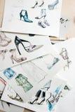Modèles de mode esquissant des modèles Photographie stock libre de droits