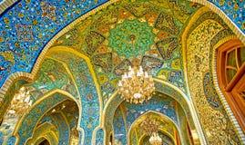 Modèles de mosquée du ` s de Shah à Téhéran images libres de droits