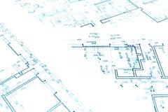 Modèles de plan de construction, une partie du projet architectural, arc image stock