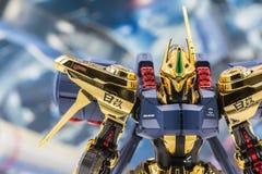 Modèles de plastique d'échelle de Gundam Photographie stock libre de droits