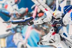 Modèles de plastique d'échelle de Gundam Photo stock