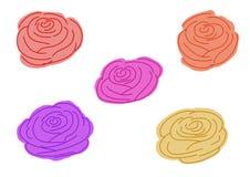 Modèles de Rose sur un fond blanc ombragé illustration de vecteur
