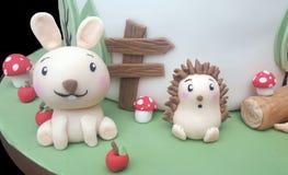 Modèles de sucre de lapin et de hérisson Images stock