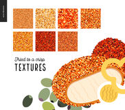 Modèles de texture frits par viande Photo stock