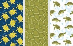 Modèles de tortue illustration stock