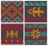 Modèles de tricotage andins traditionnels Images libres de droits