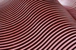 Modèles de vague faits un pas en métal Photos stock