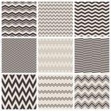 Modèles de zigzag sans couture Images stock