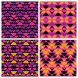 Modèles de zigzag de triangle Image libre de droits