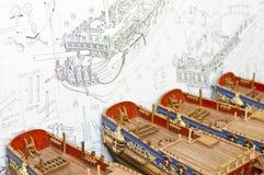 Modèles des bateaux Photos stock