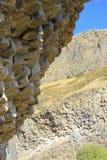Modèles des colonnes de basalte Photographie stock