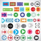 Modèles des flèches Image stock