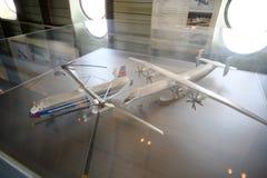 Modèles des grands hélicoptères de transport de fret Mi-12 Photographie stock libre de droits