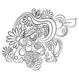 Modèles en noir et blanc Page pour livre de coloriage Photographie stock libre de droits