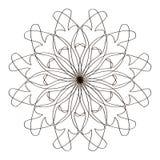 Modèles en noir et blanc Page pour livre de coloriage Image libre de droits