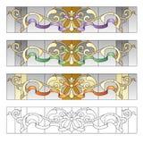 Modèles en verre souillé Images stock