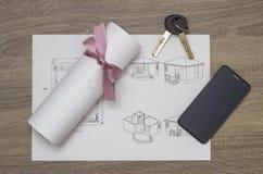 Modèles et contrat Photo stock