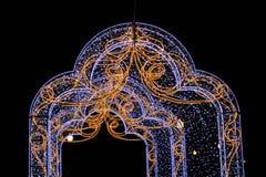 Modèles et décoration lumineuse de lumières photo libre de droits