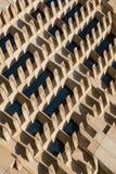 Modèles et lignes géométriques abstraits architecturaux Photo stock