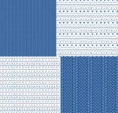 Modèles et ornements tricotés sans couture illustration libre de droits