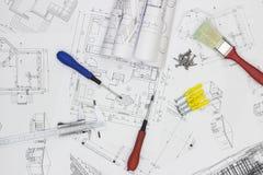 Modèles et outils Images stock