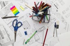 Modèles et outils Photographie stock