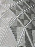 Modèles et revêtement blancs géométriques Image stock
