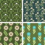 Modèles floraux Photo stock