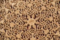 Modèles floraux de tabouret sur le bois Photos libres de droits