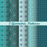 5 modèles géométriques Photographie stock libre de droits