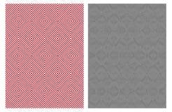 Modèles géométriques abstraits élégants simples de vecteur Conception de rouge et de noir illustration stock